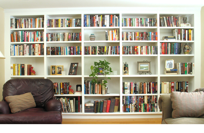 Luxury Bookcase Media Center  London Carpentry Solutions
