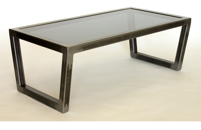 Steel And Glass Coffee Table