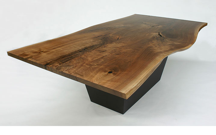 Dining Tables At Loki Custom Furniture - White and walnut dining table
