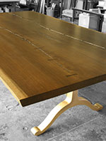 english elm slab table