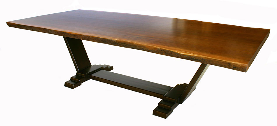 sapele slab table