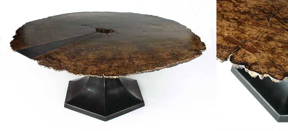 tulip slab dining table