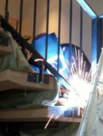 welding railings on site